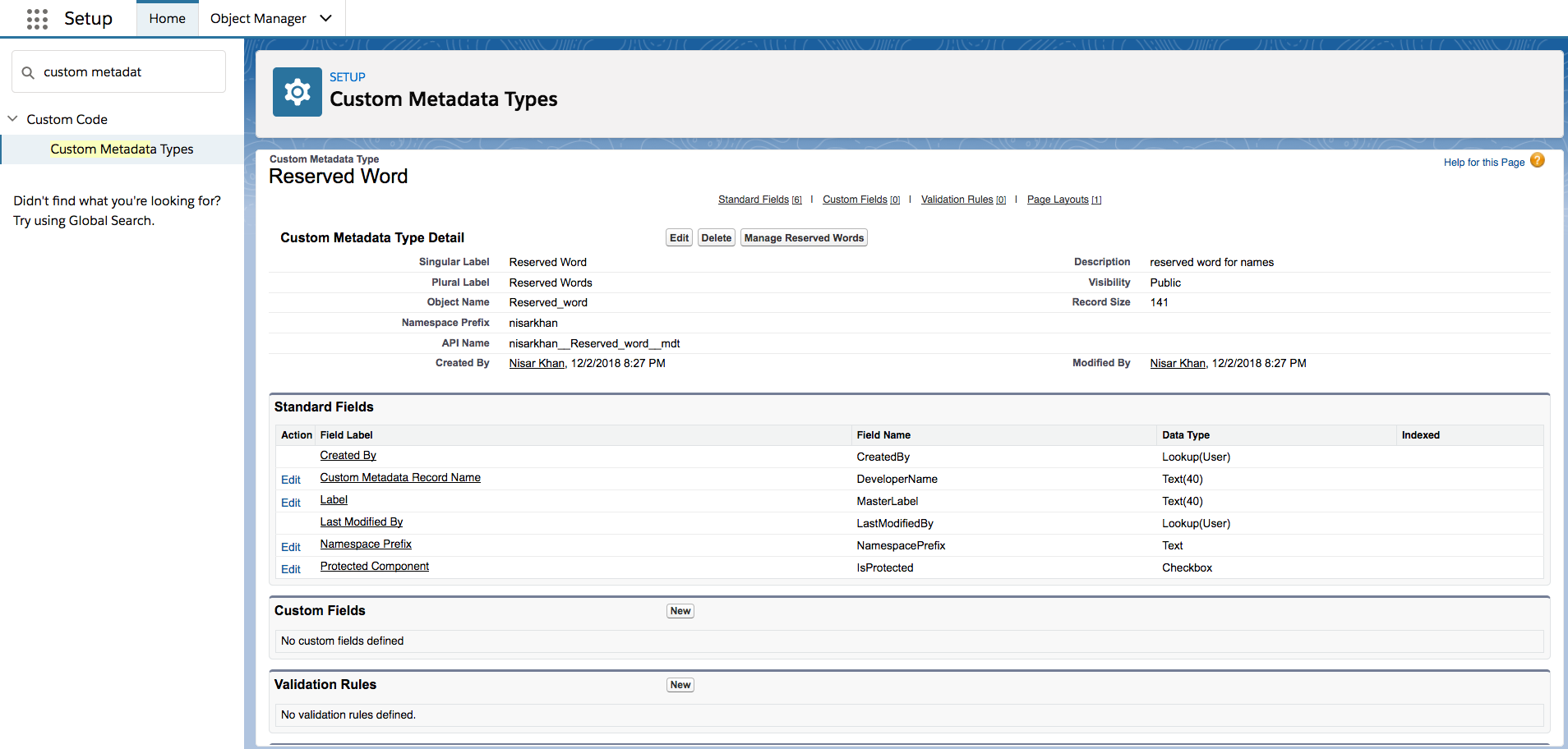 How to create apex trigger on custom metadata type